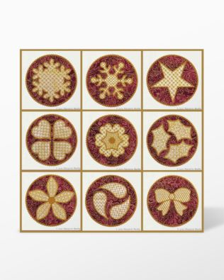 GO! Holiday Circles 2 Embroidery Designs by Marjorie Busby (BQ-HC2e)