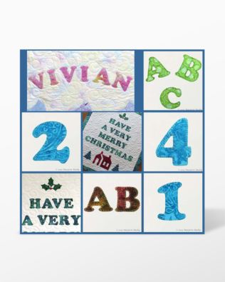 GO! Perfect Placement Alphabet and Numbers Machine Embroidery Designs by Marjorie Busby (BQ-PPANe)
