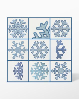 "GO! Snowflake-7"" Embroidery Designs by Marjorie Busby (BQ-SF7e)"