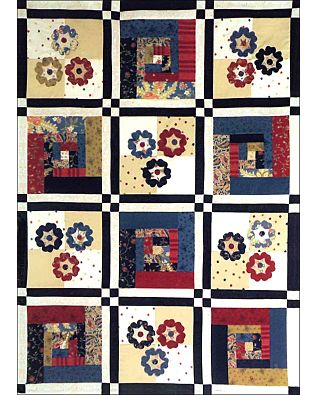 GO! Cabins & Posies Quilt Pattern