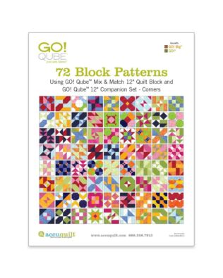 "GO! Qube 12"" Companion Set Corners-72 Block Patterns Booklet"