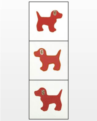 GO! Gingham Dog Embroidery Designs