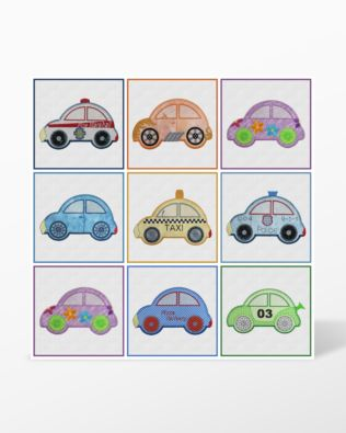 GO! Cute Car Embroidery Collage