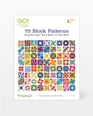 "GO! Qube 10"" Block-72 Block Patterns Booklet"