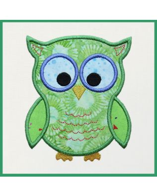 GO! Cute Owl Embroidery Designs by Marjorie Busby