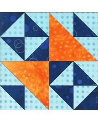 "GO! Double Cross 6"" Block Pattern (PQ10606)"