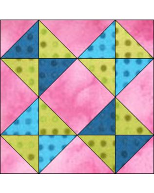 "GO! Broken Dishes 6"" Block Pattern (PQ10601)"
