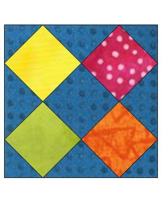 """GO! Broken Sash 6"""" Block Pattern (PQ10602)"""