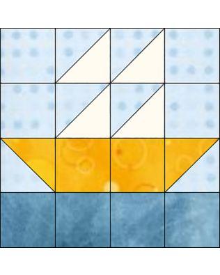 "GO! Boat 6"" Block Pattern (PQ10600)"