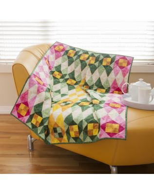 """GO! Qube 6"""" Stained Glass Quilt Pattern (PQ10745)"""