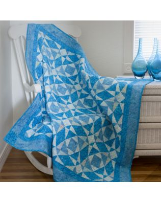 """GO! Qube 6"""" Storm at Sea Throw Quilt Pattern (PQ10752)"""