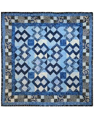 GO! House of Blues Throw Quilt Pattern (PQ11072)