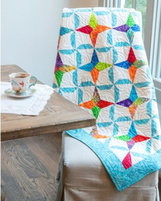 "GO! Qube 6"" Pinwheel Kite Throw Quilt Pattern"