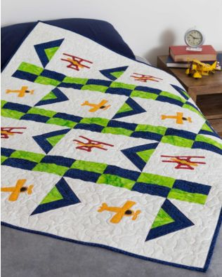 "GO! Qube 8"" Flight Plan Throw Quilt Pattern"