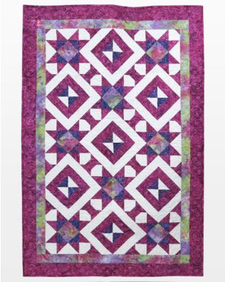 """GO! Qube 10"""" Starry Spools Throw Quilt Pattern"""