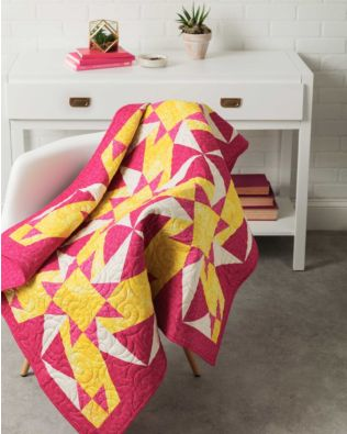 "GO! Qube 10"" Kindling Throw Quilt Pattern"