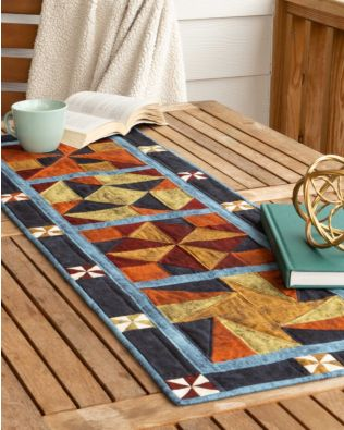 "GO! Qube 10"" Fall Frolic Table Runner Pattern"