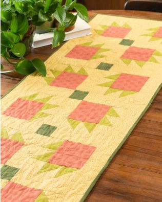 GO! Tossed Bear's Claw Table Runner Pattern
