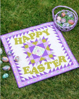 GO! Happy Easter Throw Quilt Pattern