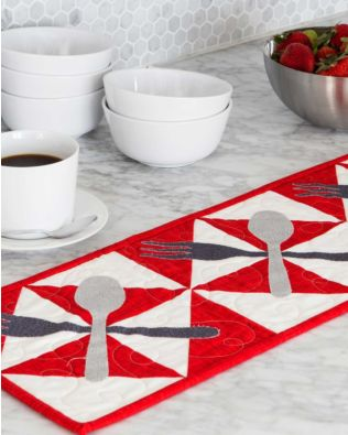 GO! Broken Dishes Table Runner Pattern