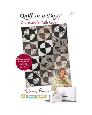 Quilt in a Day Drunkard's Path Quilts Pattern Booklet by Eleanor Burns (PQ1504)