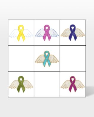 GO! Awareness Ribbons with Wings by V-Stitch Designs (VQ-ARW)