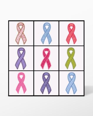 GO! Awareness Ribbon Set Embroidery Designs by V-Stitch Designs