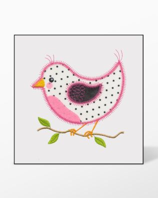 GO! Bird A Single #1 Embroidery Designs by V-Stitch Designs (VQ-BA1)