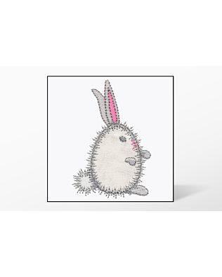 GO! Bunny Egg Single #2 Embroidery Designs by V-Stitch Designs