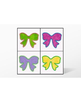 GO! Bows Set Embroidery Designs by V-Stitch Designs