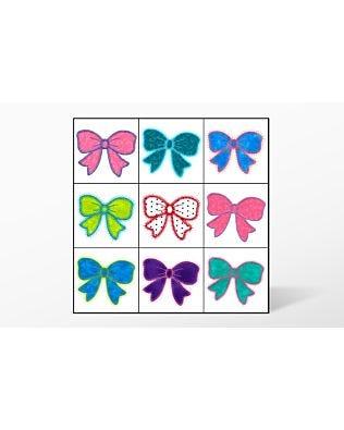 GO! Bows 2 Embroidery Designs by V-Stitch Designs (VQ-BOW2)