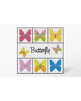 GO! Butterfly Embroidery by V-Stitch Designs (VQ-BUES1)