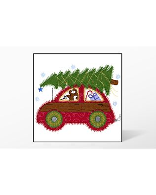 GO! Cute Car Christmas Embroidery Designs by V-Stitch Designs (VQ-CCC1)