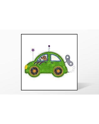 GO! Cute Car Wind-Up Embroidery Designs by V-Stitch Designs (VQ-CCW1)