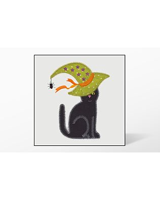 GO! Calico Cat with Witch Hat Embroidery Designs by V-Stitch Designs (VQ-CCWH)