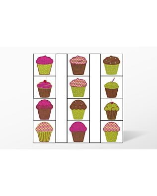 Cupcake Embroidery by V-Stitch Designs