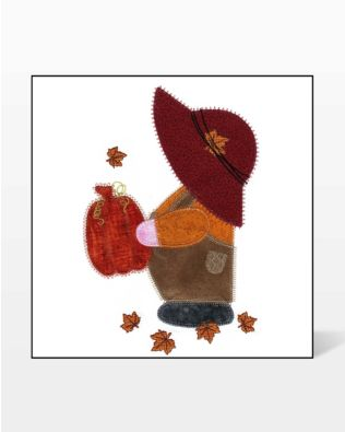 GO! Fall Overall Sam Embroidery Design by V-Stitch Designs
