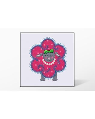 GO! Flower Sheep Single #3 Embroidery Designs by V-Stitch Designs