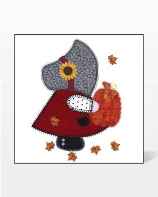 GO! Fall Sunbonnet Sue Embroidery Design by V-Stitch Designs