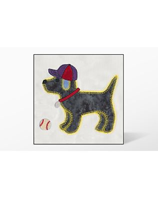 GO! Gingham Dog Single #1 Embroidery Designs by V-Stitch Designs