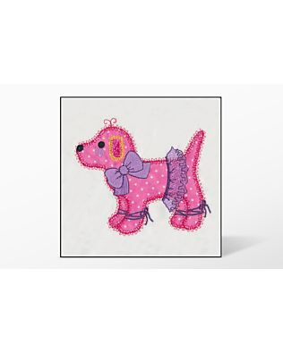 GO! Gingham Dog Single #2 Embroidery Designs by V-Stitch Designs