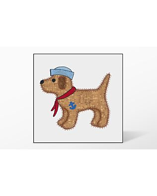 GO! Gingham Dog Single #3 Embroidery Designs by V-Stitch Designs
