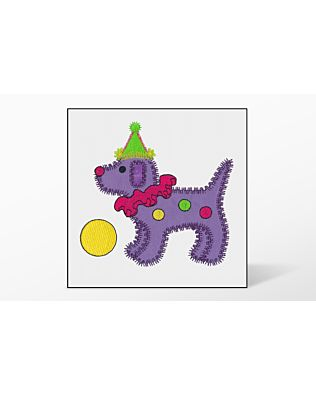 GO! Gingham Dog Single #4 Embroidery Designs by V-Stitch Designs