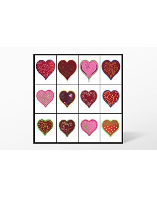 """GO! Heart-2"""", 3"""", 4"""" Embroidery by V-Stitch Designs (VQ-HE2)"""