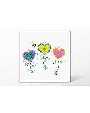GO! Heart Flowers Single Embroidery Designs by V-Stitch Designs (VQ-HFS)
