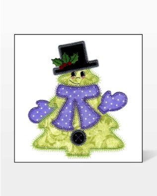 GO! HM Tree with Accessories Embroidery Design by V-Stitch Designs