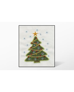 GO! Holiday Medley Tree-Single Embroidery by V-Stitch Designs (VQ-HMTS)