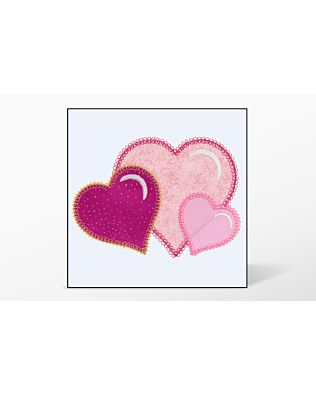 GO! Heart Single #1 Embroidery Designs by V-Stitch Designs