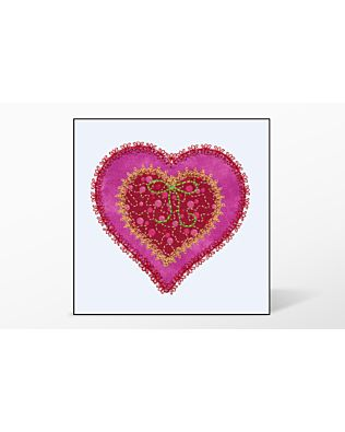 GO! Heart Single #3 Embroidery Designs by V-Stitch Designs
