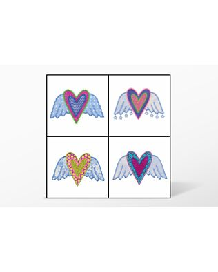 GO! Hearts with Wings Embroidery Designs by V-Stitch Designs (VQ-HW)